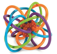 baby rattles teethers - 12cm Manhattan Toy Winkel Teethers Rattle And Sensory Teether Activity Rings Baby Feeder Silicone Teething Toys Baby Products for Teeth Ball