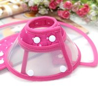 Wholesale Pet Collars Elizabeth Circle headgear Anti bite ring preventing the pet licking catch clasp type fabric material shall pet collar
