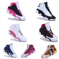 Wholesale 9 colors Retro womens AJ13 Basketball Shoes J13 Retro barons Air china jordans Basketball Shoes Sports Sneakers us5 drop shipping