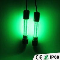 Wholesale LED Green Lure Bait Finder Night Fishing Boat Light Submersible Underwater V V Good Quality Fishing Equipment