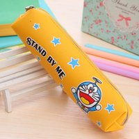 Wholesale cartoon animal printed office pu leather pencil bags case for girl kawaii cat coin purse pouch for girl princess ARC587