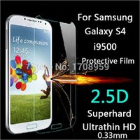 Wholesale new mm Premium Tempered Glass Screen Protector For Samsung Galaxy S4 i9500 protective film anti scratch Explosion proof