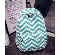 Wholesale Stripe chevron School Backpack travel bags Backpacks Canvas shoulders handbags backpack for college school bag