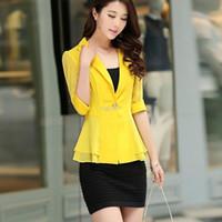 applique work suits - new fashion New Hot women brand blazer for women OL Breathable suit jacket Woman s Coat Work Wear