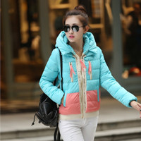 best price down jacket coat - Best Price Women Winter Coat Fashion Color Splicing Parkas Thick Jacket Warm Hooded Down Coat