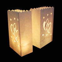 Cheap 20Pcs lotTea light Paper Lantern Candle Holder Bag For Christmas Halloween Party Wedding Valentine's Day Decor Supply