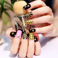 Wholesale Fake nails patch Set of metal rivet nail nail Super personality nail stick