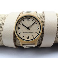 wood watches wholesale - Bamboo Watch Classic Wooden Watches vogue women Wooden Wristwatches Bamboo wood Watches Casual Quartz Watch Reloj Mujer for Christmas Gifts