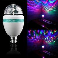 Wholesale New Arrivals B22 W Crystal Bulbs Light RGB LED Colorful Rotating Lighting Stage Disco Party DJ Mini Bar DA1 HG1