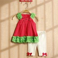 baby zebra dress - Baby Girls Rulles Strawberry slipdress Leggings Piece set M T for toddler girls Ruffled dress set