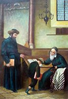 art jewish - Handmade Jewish Israel Judaica Hebrew Art Oil Painting Blessings from Rabbi