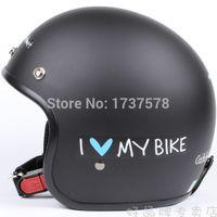 "Cheap Wholesale-C.30 Free Shipping Taiwan "" EVO "" Motorcycle Helmet Open Face Casco Moto Matt Black "" My Bike "" Helmet &"