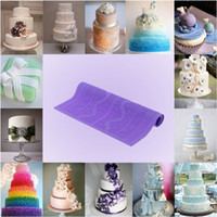 Wholesale Non stick Purple Silicone Fondant Cakes Lace Baking Mold DIY Cake Decoration Kitchen Tool cm