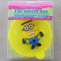 Wholesale Despicable Me mirror Minions style Portable small mirror little yellow guy children Personality mirror makeup mirror kid gift