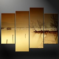 art dock - Misty Lake Dock Wall Art Cascade Canvas Picture Many Oil Paintings Home Decoration Items Wall Paintings Home Decor Office