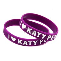 Wholesale 1PC I Love Katy Perry Silicone Wristband For Music Fans Great Way To Show Your Idol By Wear This Kind Of Bracelet