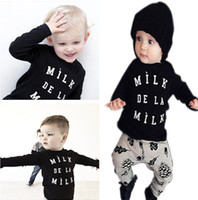 Cheap stock baby kids clothes girls boys leggings toddler clothing tights Two Pieces clothing suits Outfits Infant cartoo Sets 26