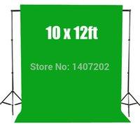 green screen - 10 x ft Chromakey Green Screen Muslin Backdrop Photography Studio Background cotton x3 m