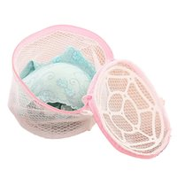 Wholesale 2015 New Fashion Lingerie Underwear Bra Sock Laundry Washing Aid Net Mesh Zip Bag Cleaning Polyester Freeshipping Smile