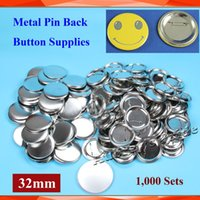 Wholesale quot mm Sets NEW Pro All Steel Badge Button Maker Pin Back Metal Pinback Button Supply Materials
