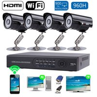 Wholesale 2016 New CH H D1 DVR and Outdoor COMS TVL HDMI Security Kit EU G WIFF Hot Promotion