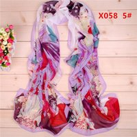 Wholesale New Tang beauty pattern chiffon long silk scarves cm DHL X058y Sales Paisley scarf