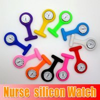 Wholesale Silicone Nurse Medical silicon Watch brooch clip pocket Watches With Pin colors Doctor Watch sexy girls