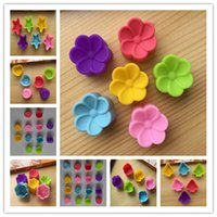 Wholesale 90pcs shape color Silicone Mold Muffin Cups Rose star heart tree flower Cake Tools Silicon Mould Pudding Cup Jelly Moule L792
