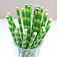 art paper best bag - 100pcs bag Best choice trade bamboo tea drinking paper straws shape creative Environment friendly art paper straw