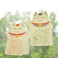 beckoning cat - Hot sale Cute Lucky Cat Beckoning Maneki Neko Post It Memo Bookmark Sticky Notes Fridge Notes Drop Shipping HG32