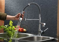 Wholesale 2015 New arrives Pull UP Down With Sprayer Kitchen Sink Mixer Tap Chrome Faucet DH