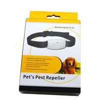 Wholesale Ultrasonic pet Pest Control Insect Repellent Dog Collar Pet s Pest Repeller approved by CE RoHS certificate