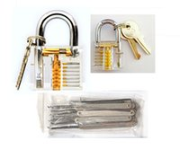 best padlocks - best sale transparent padlock lock picking picks with two sizes with locksmith lock pick tools BK090