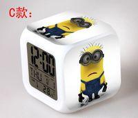 Wholesale 10pcs Alarm Clock with LED cartoon game Minecraft action toy figures Night light minions Electronic Toys My Neighbor Totoro Digital