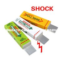 Wholesale Safety Trick Joke Toy Electric Shock Shocking Chewing Gum Pull Head Magic Tricks