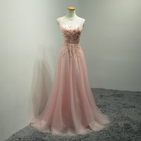 Cheap 2016 Real Pictures Maid of Hornor Dresses for Wedding Scoop Sleeveless Illusion Sheer with Beading Peals High Quality Sweep Train