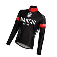 Wholesale 2014 biachi men s cycling jersey jacket in winter autumn with long sleeve cycling bike top of breathable bicycle wear clothing