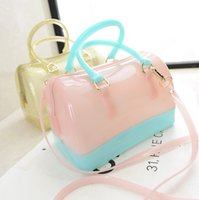 jelly bag - 2015 new handbag Macarons color pillow Shoulder Bag Handbag Bag jelly candy color transparent bag bag