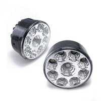 Cheap 1pairs 5W 9 LED Car Daytime Running Lights Round Shape DC12V Fog Lamp Driving Day Light