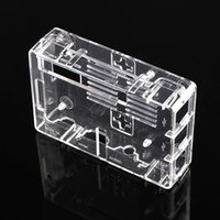 Wholesale Raspberry Pi Model B Case Black Transparent ABS Plastic Box Closed Box