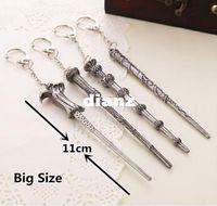 Wholesale New Arrive Harry magic wand Necklace Keychain Key Chain Harry Hermione Dumbledore Voldemort wand pendant