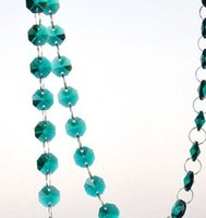 beaded glass ornaments - METERS emerald Real Glass Crystal Beaded Hanging Garland Strands for casamento decoration marriage