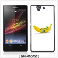 Cheap Cool Frog & Banana-FOR Sony Xperia Z L36h C6603 Plastic Hard Back Case Cover Shell (L36-0000565)