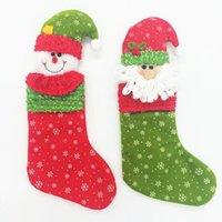 Wholesale Christmas Stocking Socks Santa s Present Socks Christmas Party Gift Bag for kids christmas tree ornament decoration