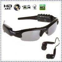 Wholesale 1280x720 HD Hidden spy Camera Sunglasses with Bluetooth MP3 Player Popular Glasses Digital Video Recorder