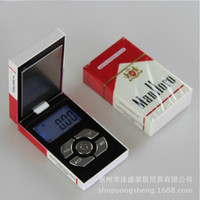 Wholesale g x g Digital Pocket Scale Balance Weight Jewelry Scales gram Cigarette Case Dropshipping
