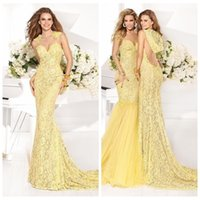 arabic hats - Yellow Lace With Hat Sexy Backless Mermaid Evening Dresses Tarik Ediz Prom Slim Party Gowns Young Girls Pageant Dress Dubai Arabic