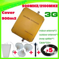 Wholesale COVER m2 Dual band cell phone booster CDMA and WCDMA MHZ MHZ mobile phone repeater CDMA MHZ Cover m2