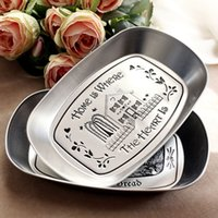 Wholesale 1Piece Bandeja Silver Vintage Iron Plate Storage Tray Fruit Plate Three Dimensional Tin Plate Small Tray candy snack fruit tray