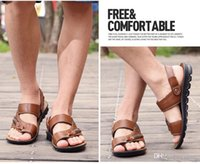 Wholesale Men sandals summer sandals the trend of dual use Genuine leather uppers sandals slippers men summer shoes